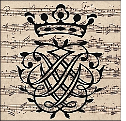 J. S. Bach seal and manuscript